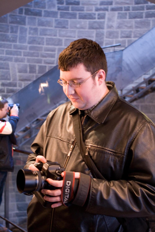 Al checks his camera