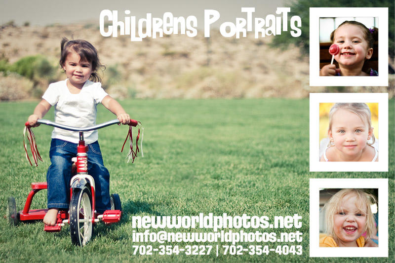 Children's photography flyer