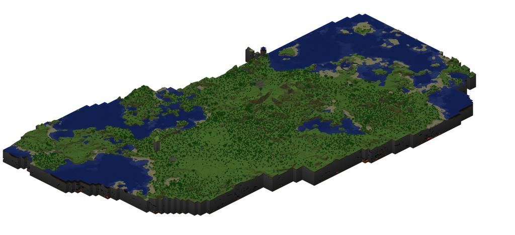 Minecraft map overview