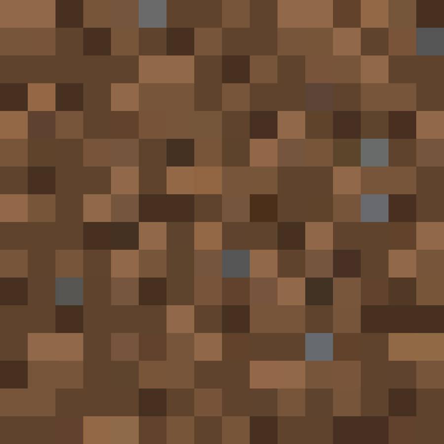 Minecraft dirt.