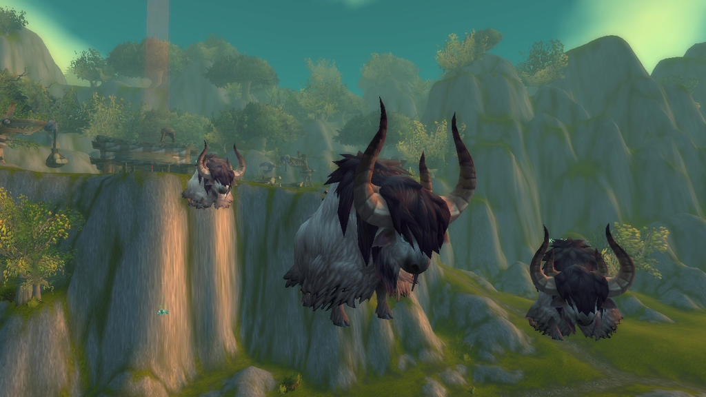 Giant flying yaks in Arathi Basin