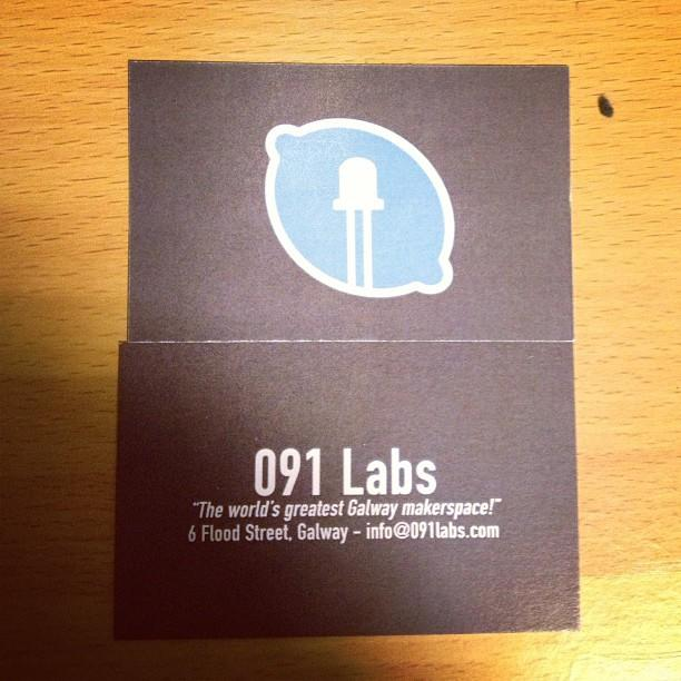 091 Labs business cards both sides