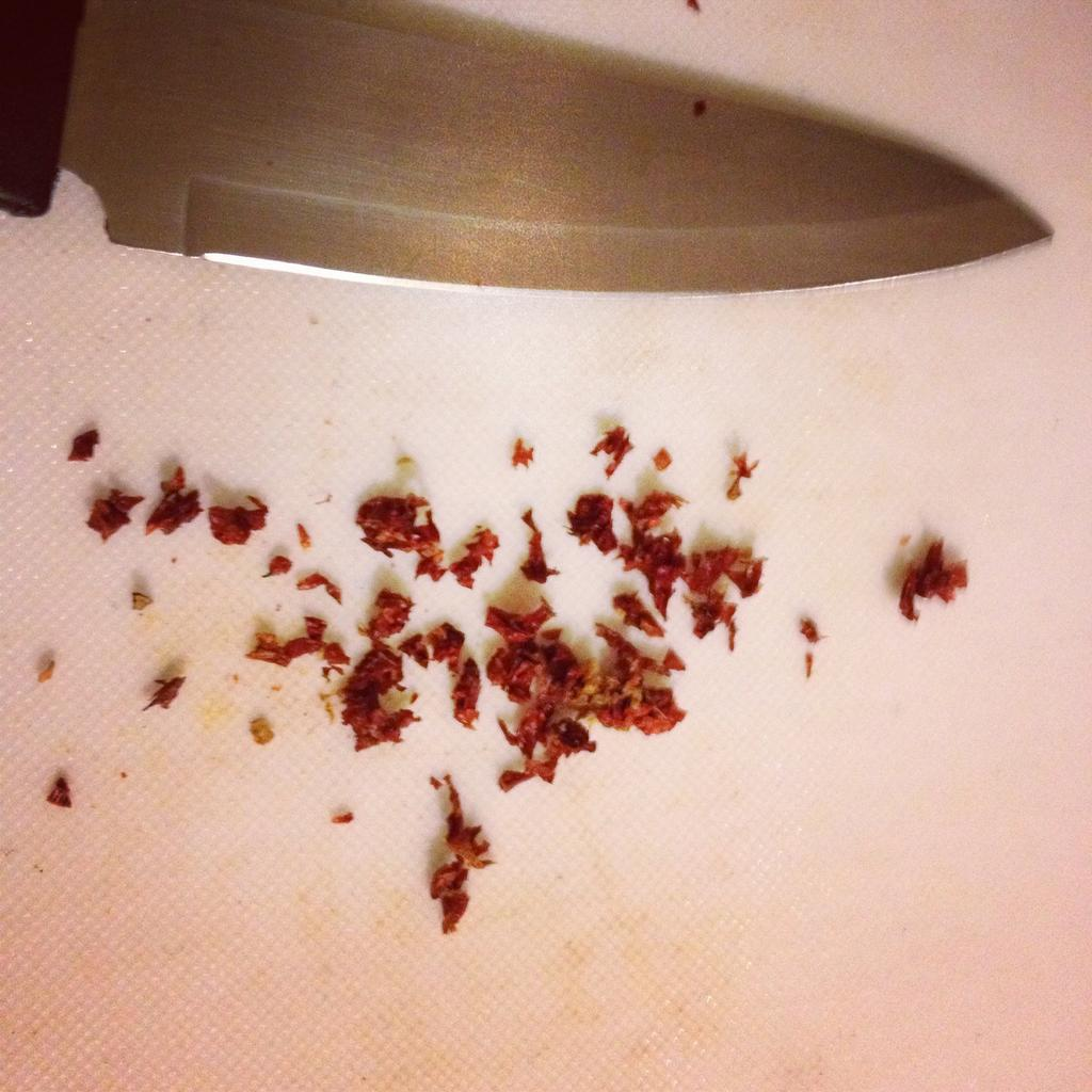 The diced and seeded scorpion