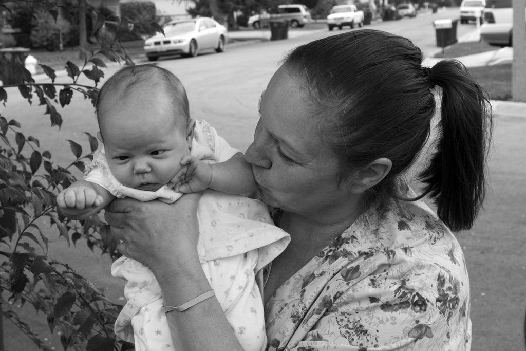 Audrey meets her granddaughter in Orange
