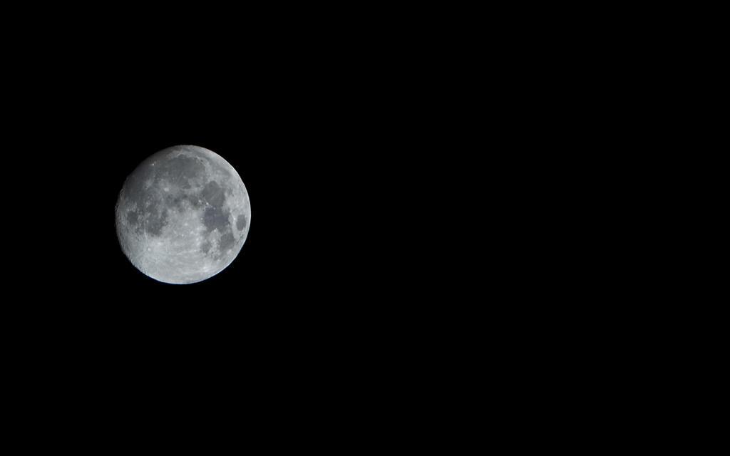 Full moon over Oranmore