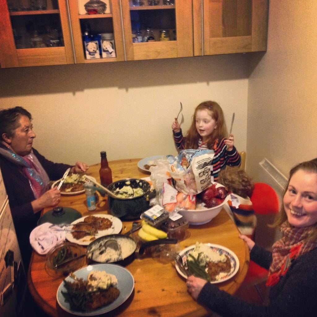 Mum, Ella, Oisin, and Jennifer
