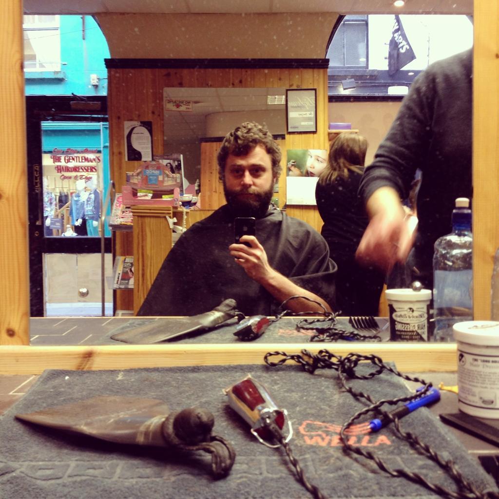 Barbershop selfie