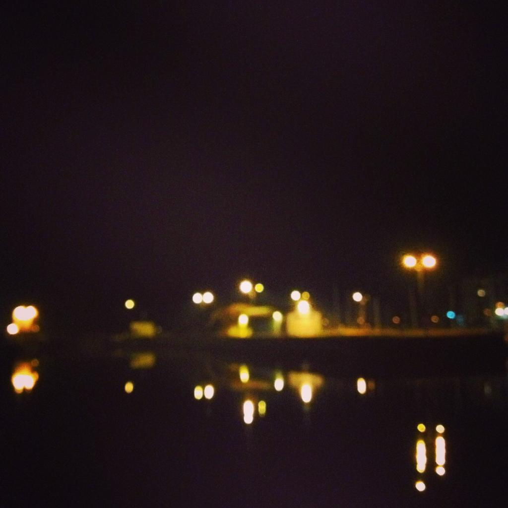 Galway quays at night
