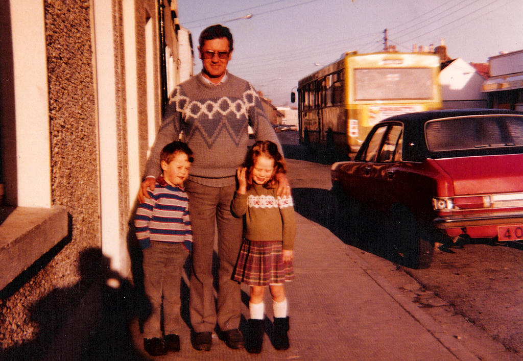 Dad, Jennifer, and I on Prospect Hill, ~1985