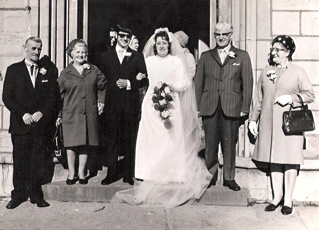 Mum and dad's wedding day, 1972