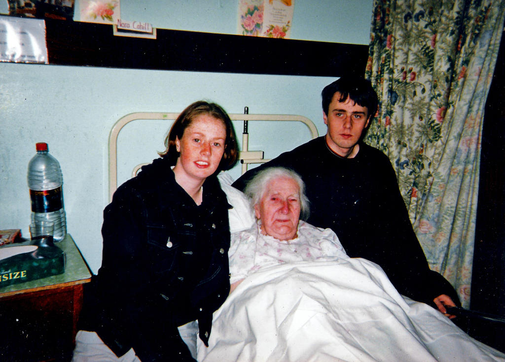 Nan on her death bed, 2003