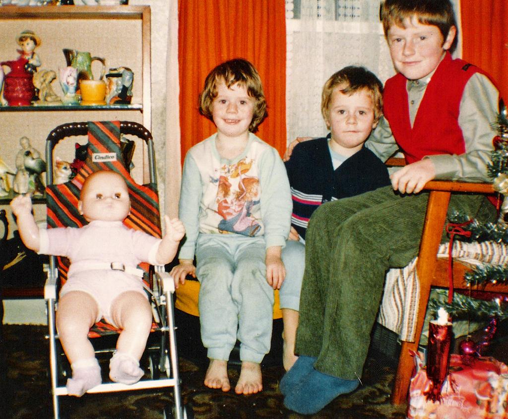 Frank, Jennifer, and I on Christmas Day ~1984