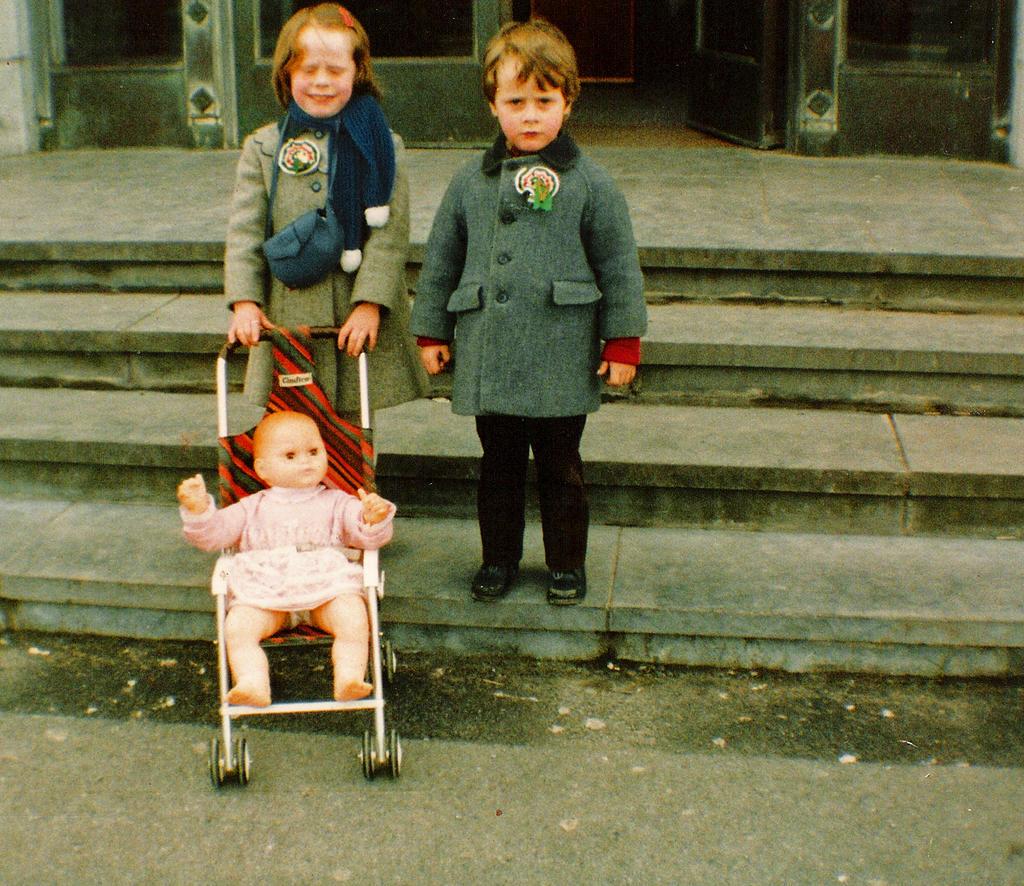 Jennifer and I on St. Patrick's Day ~1985