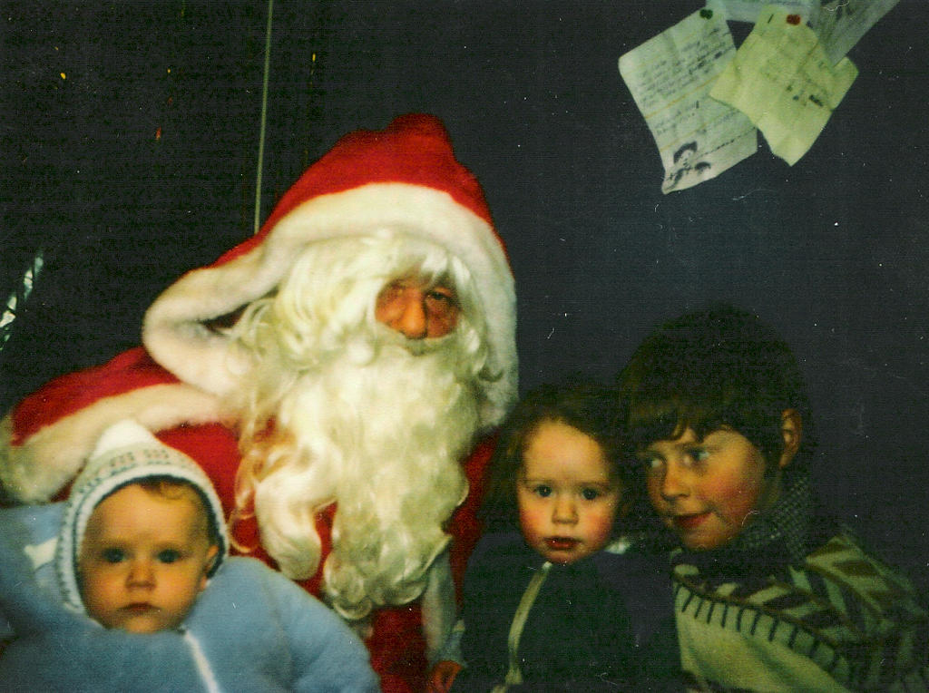 Frank, Jennifer, and I at Christmas, ~1982