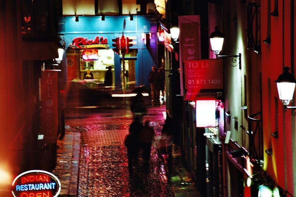 Dublin alley at night