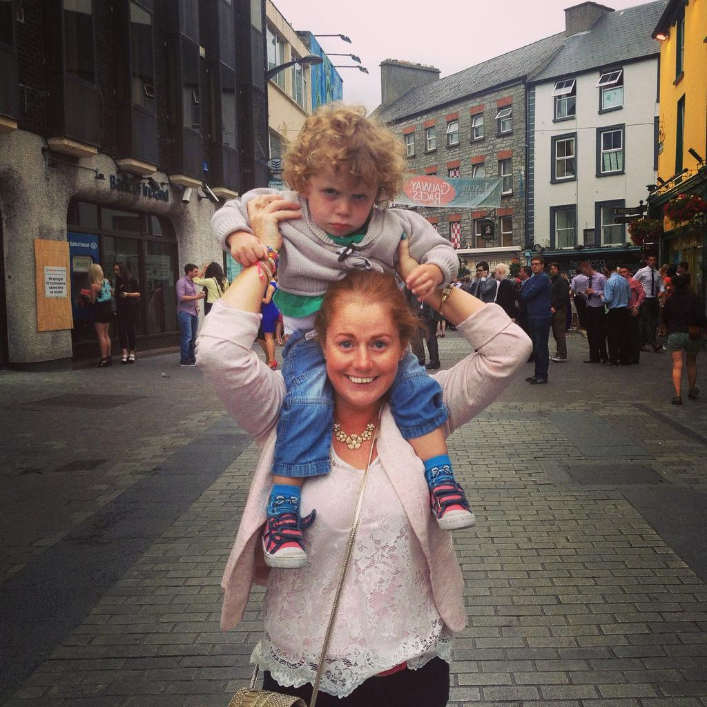 Oisin and Jennifer on Mainguard Street