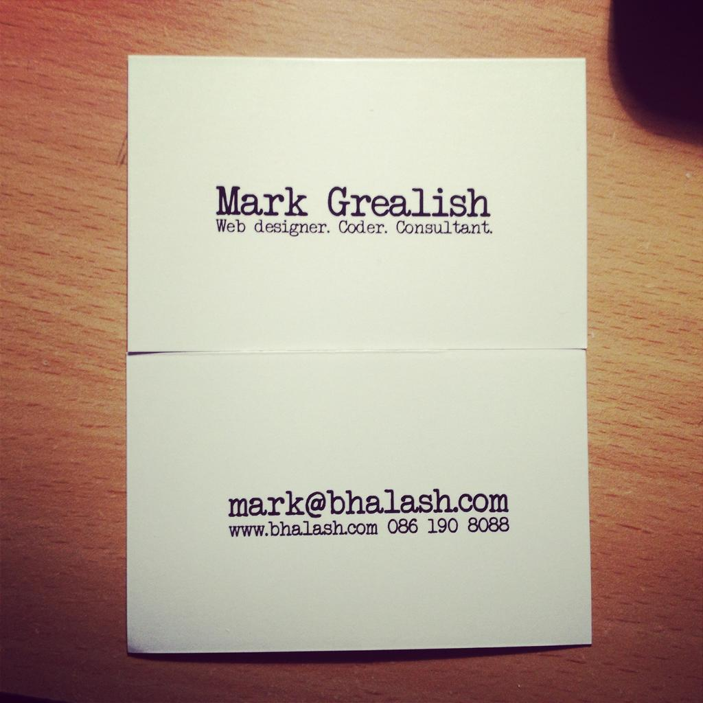 New business card