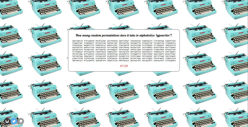 Typewriter Permutation Simulator 2014