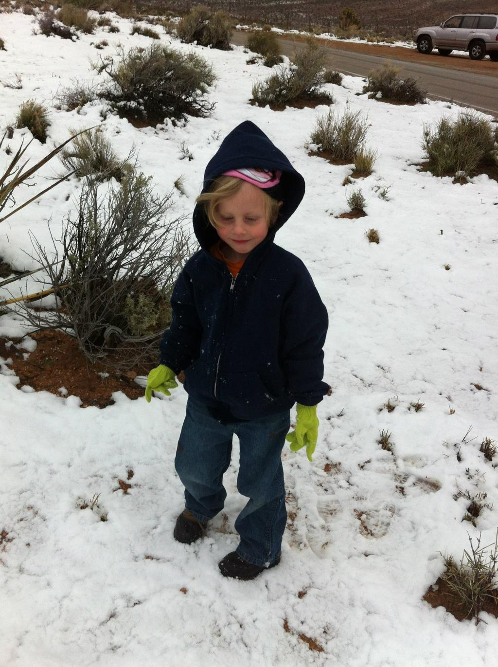 Garrett playing in the snow at Red Rock