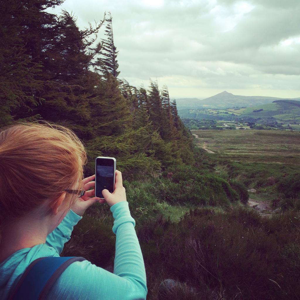 Eadaoin photographing toward the Great Sugarloaf