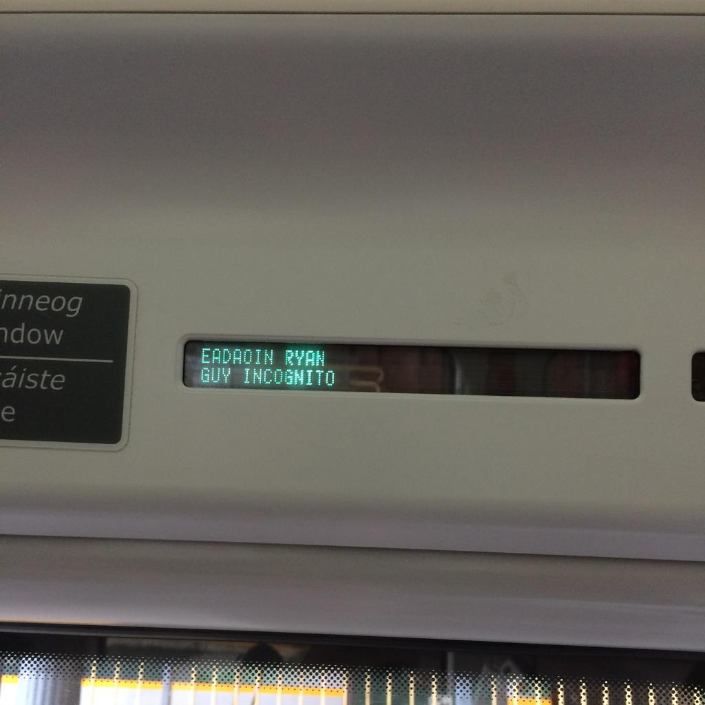 Guy Incognito rides the train