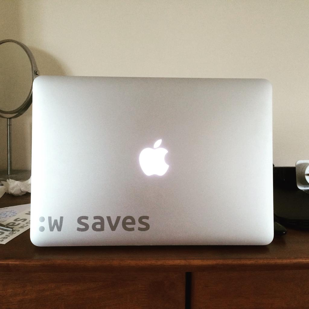 :w saves decal on my laptop