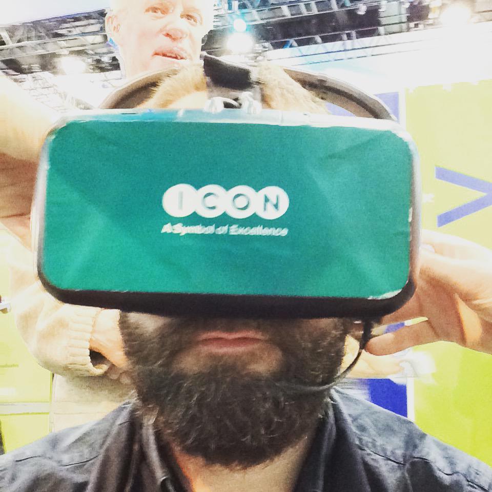 Mark wearing an Oculus Rift