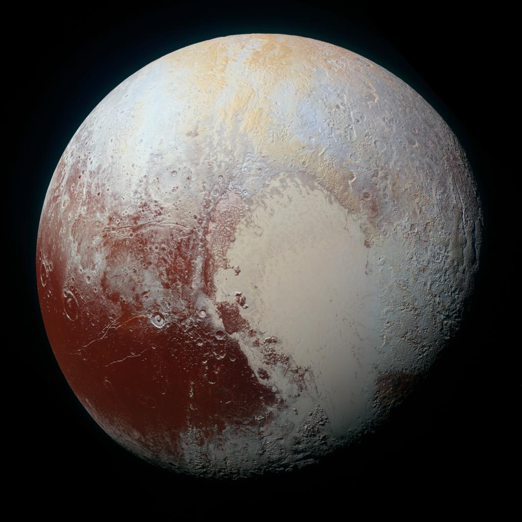 Pluto, full disc in high resolution