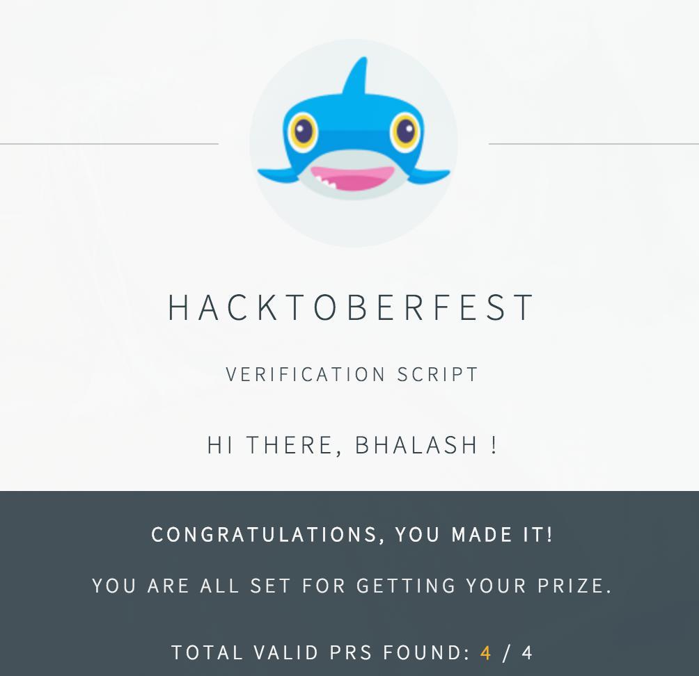 Hacktoberfest success