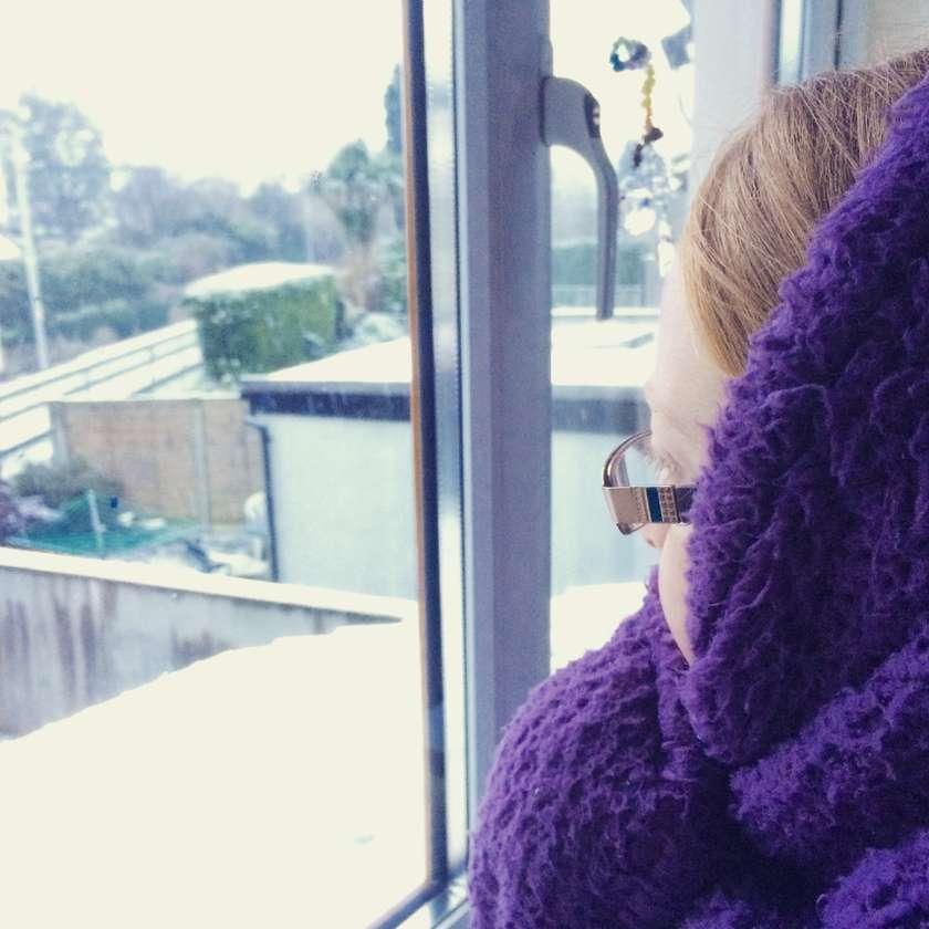 Eadaoin watches snow fall
