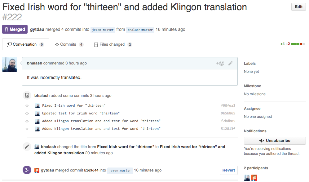 Accepted pull request for is-thirteen