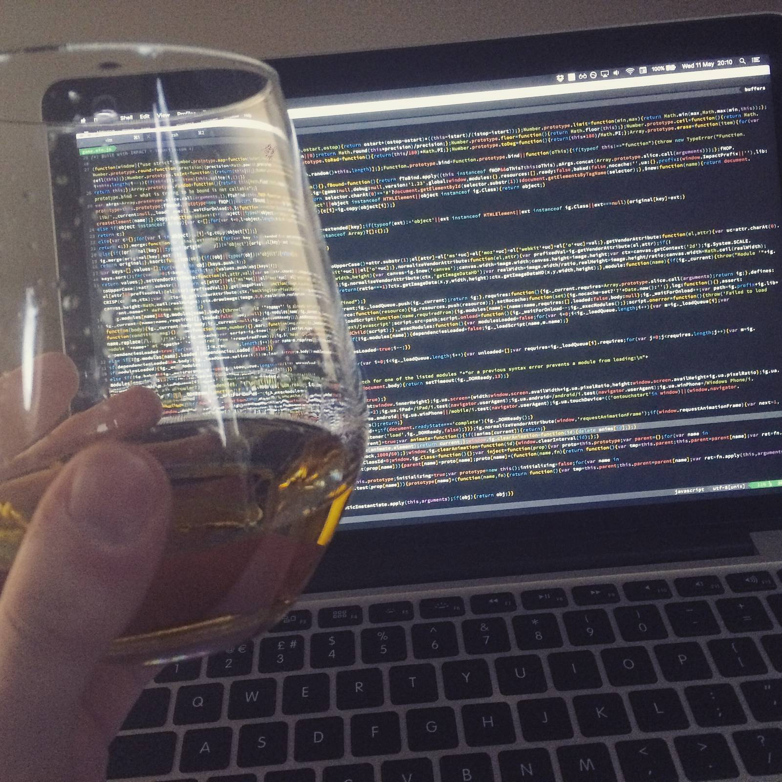 Whiskey and some other dude's minified code