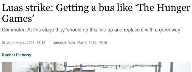 Irish Times headline
