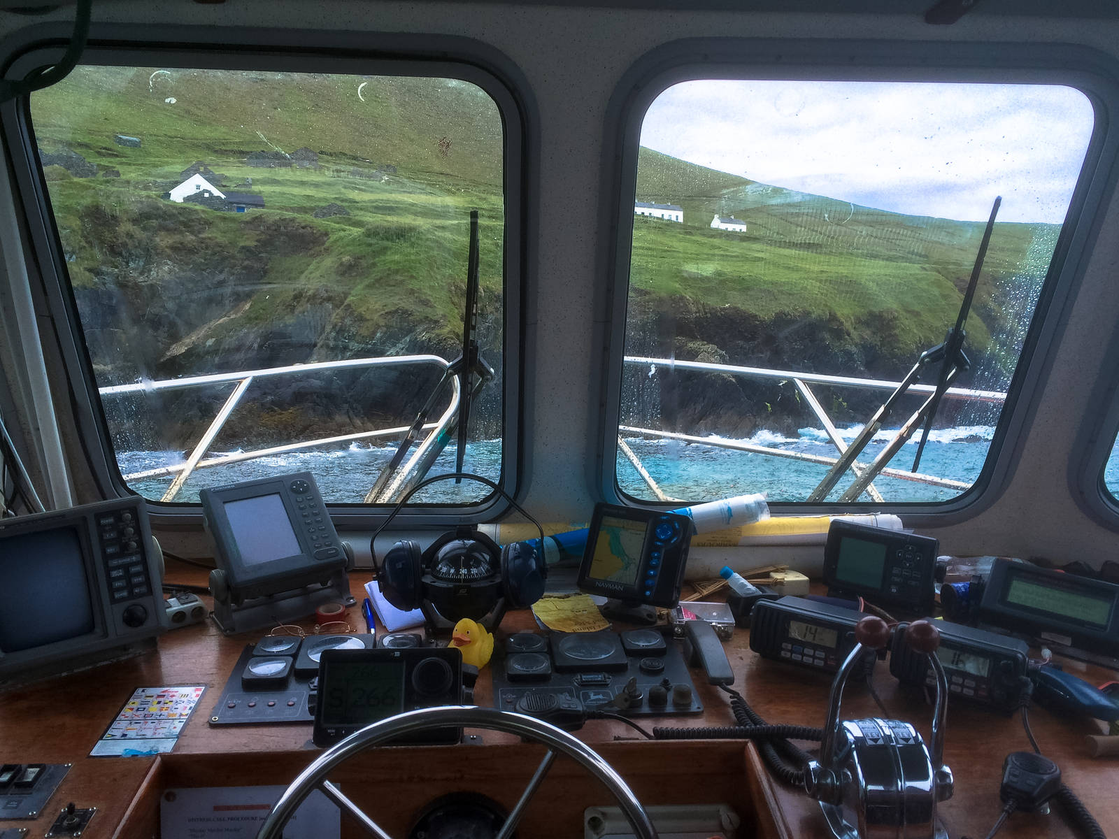The cockpit of the Blasket Princess