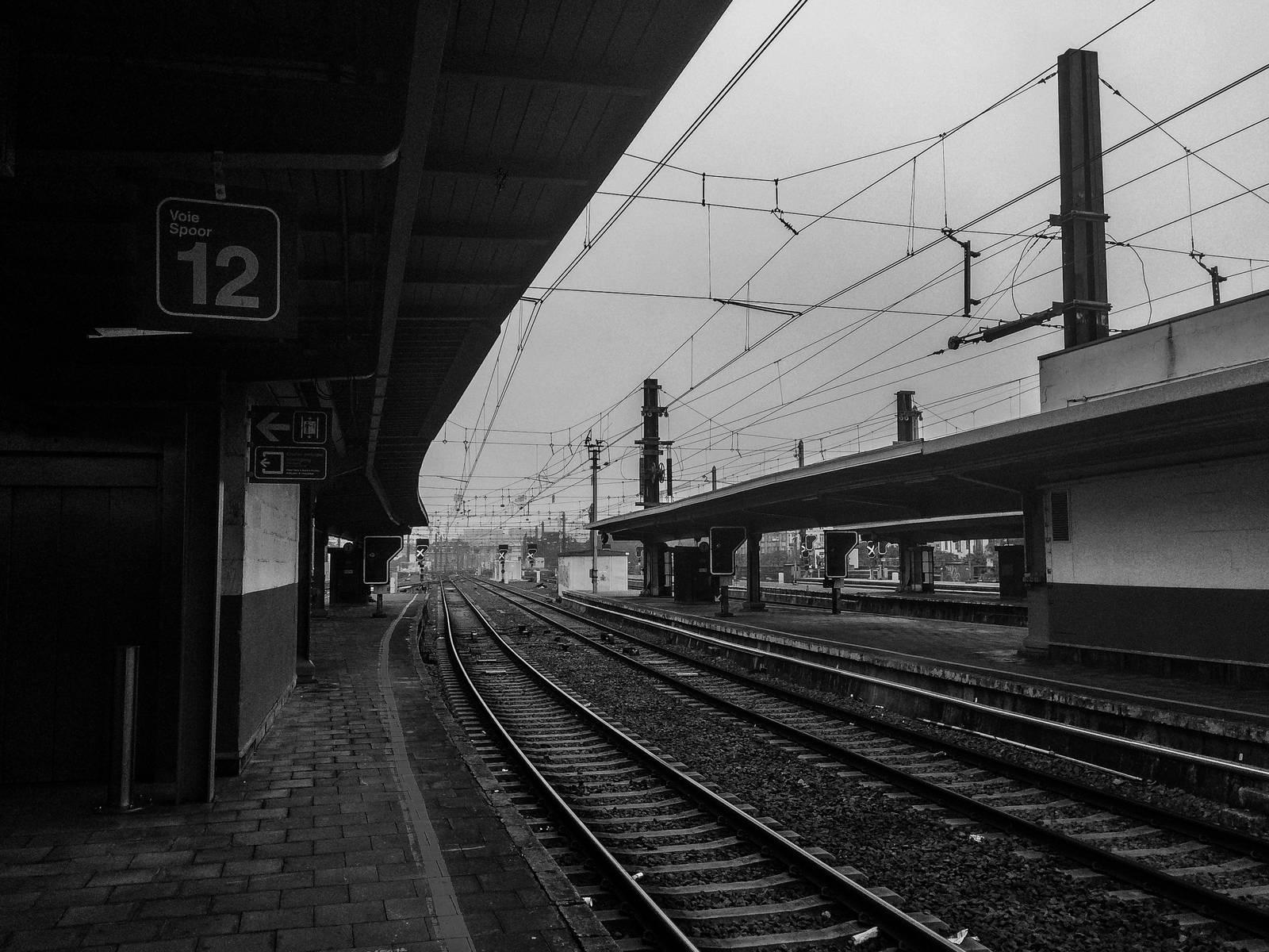 Platform 12 at Zuidstation, Brussels
