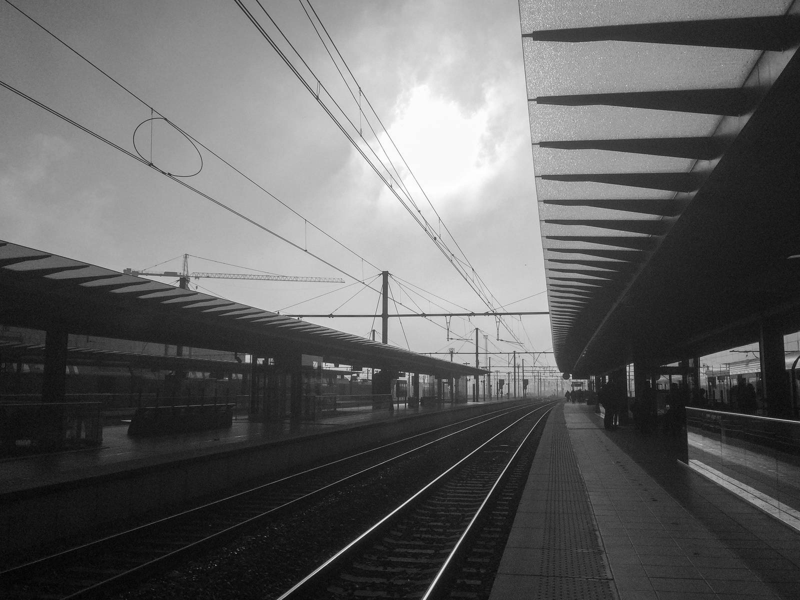 Railway station at Brugge, Belgium
