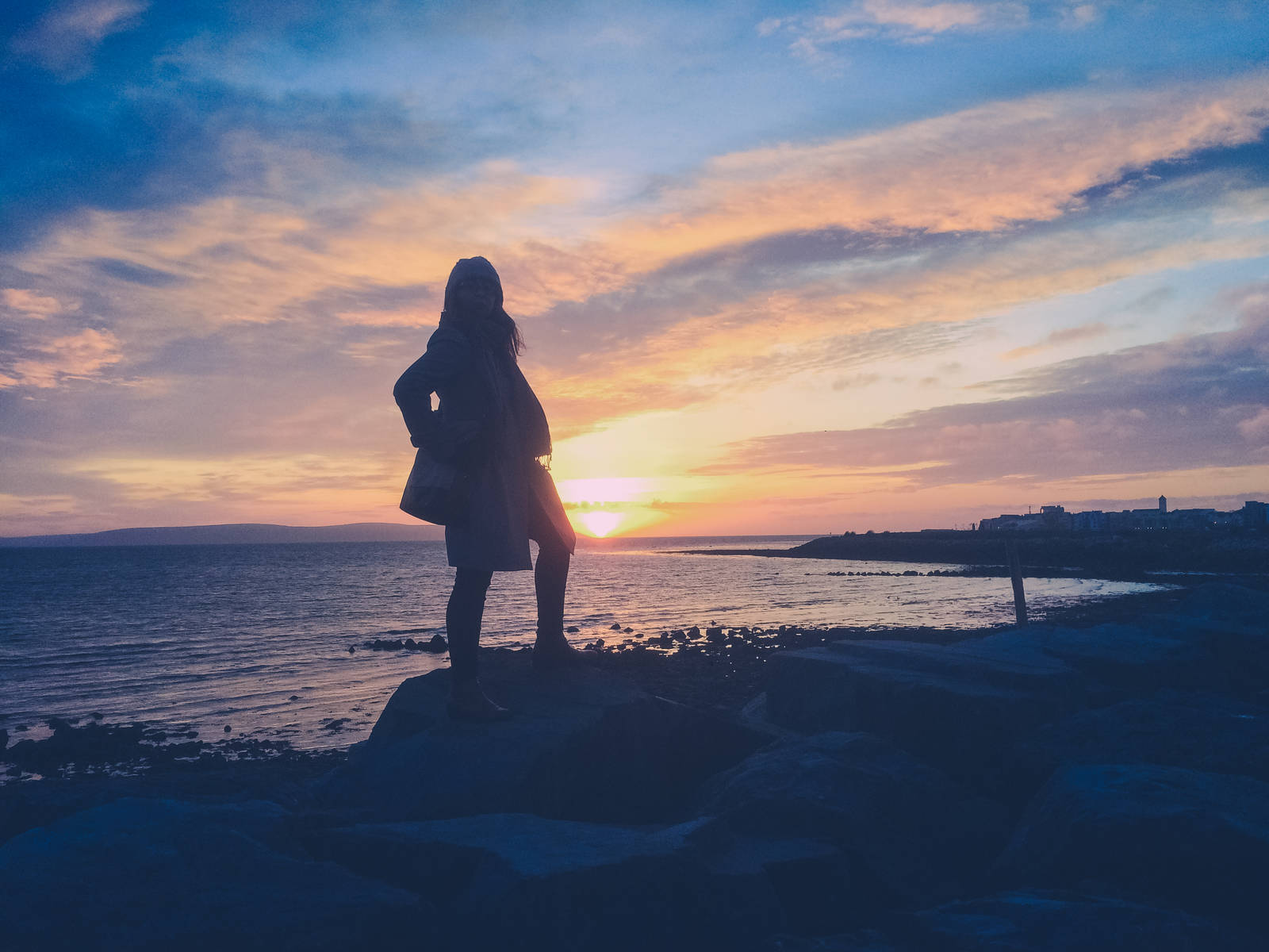Eadaoin at Salthill in Galway