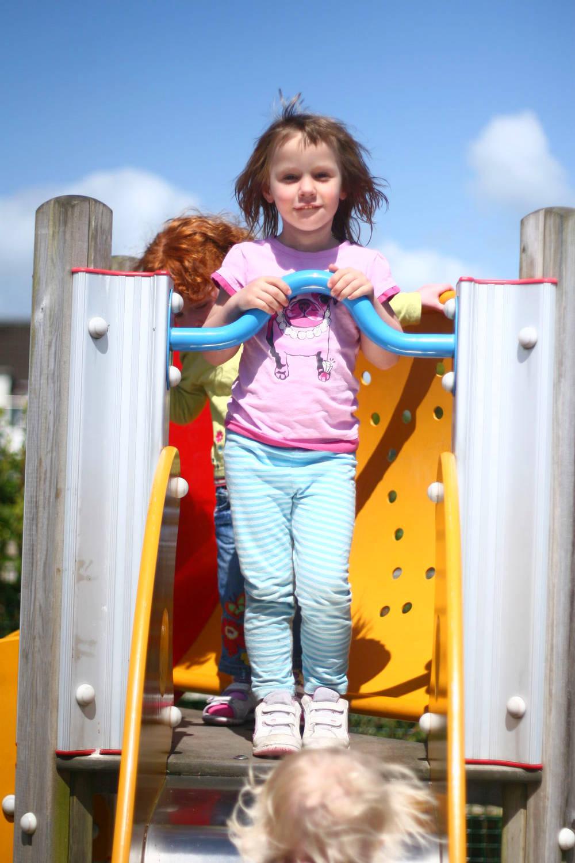 Caira on the slide