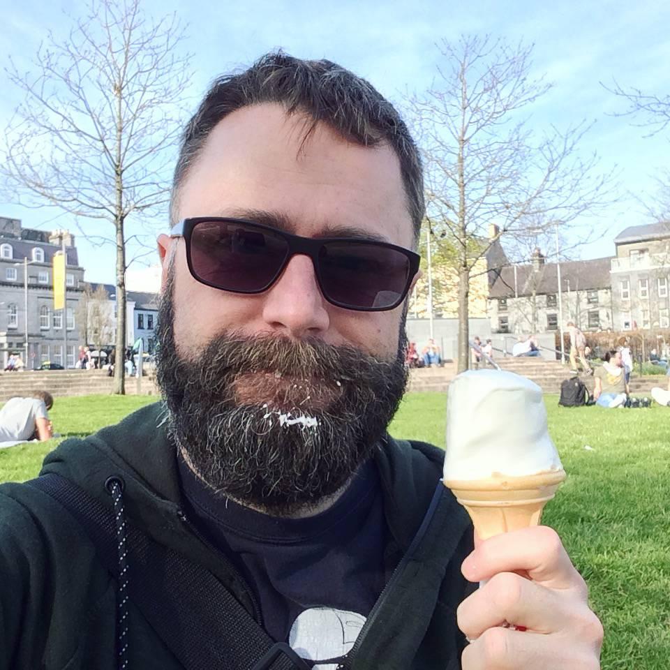 Beautiful Mark with beautiful ice cream at beautiful Eye Square