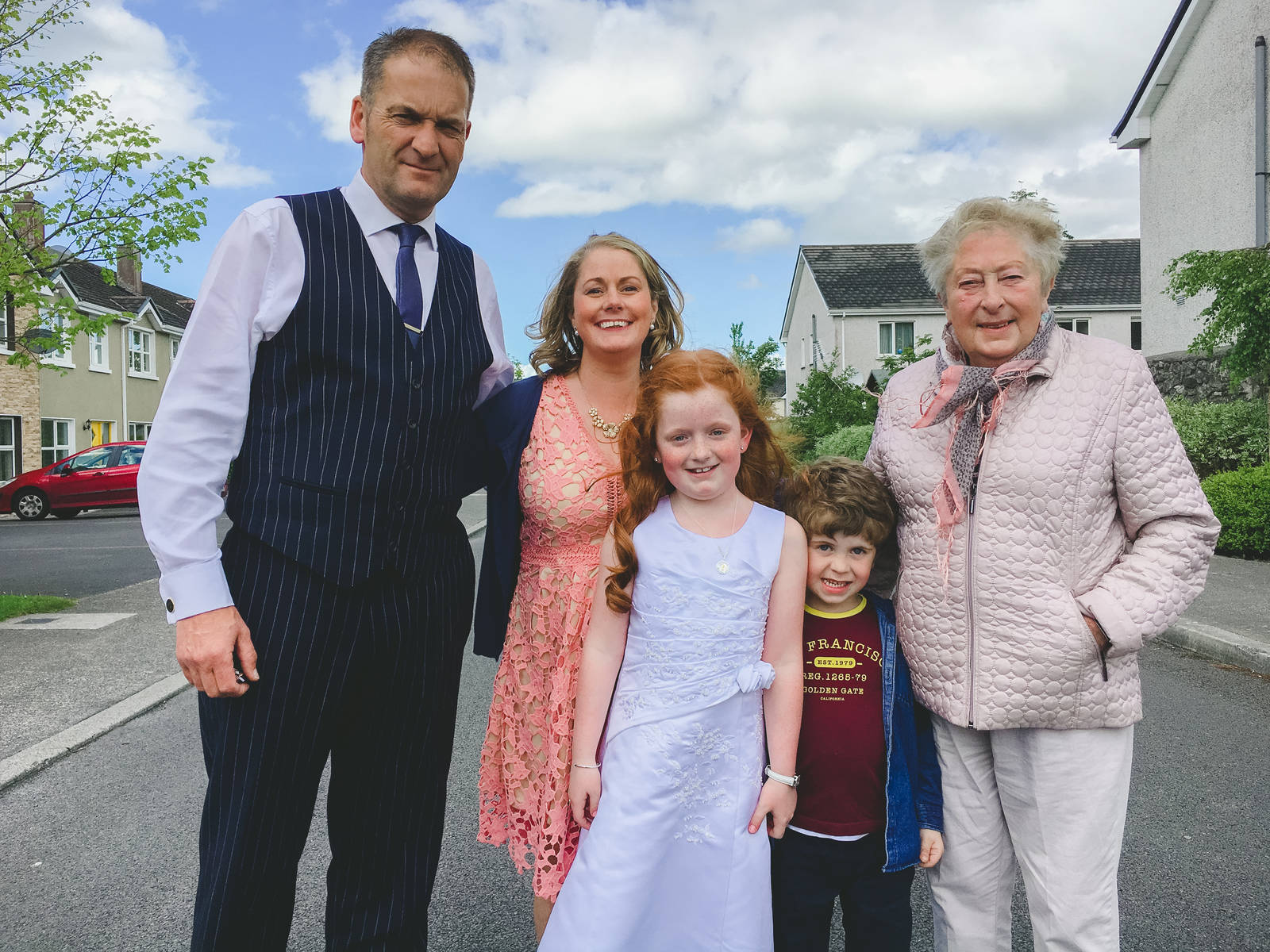 The family Grealish in Loughrea