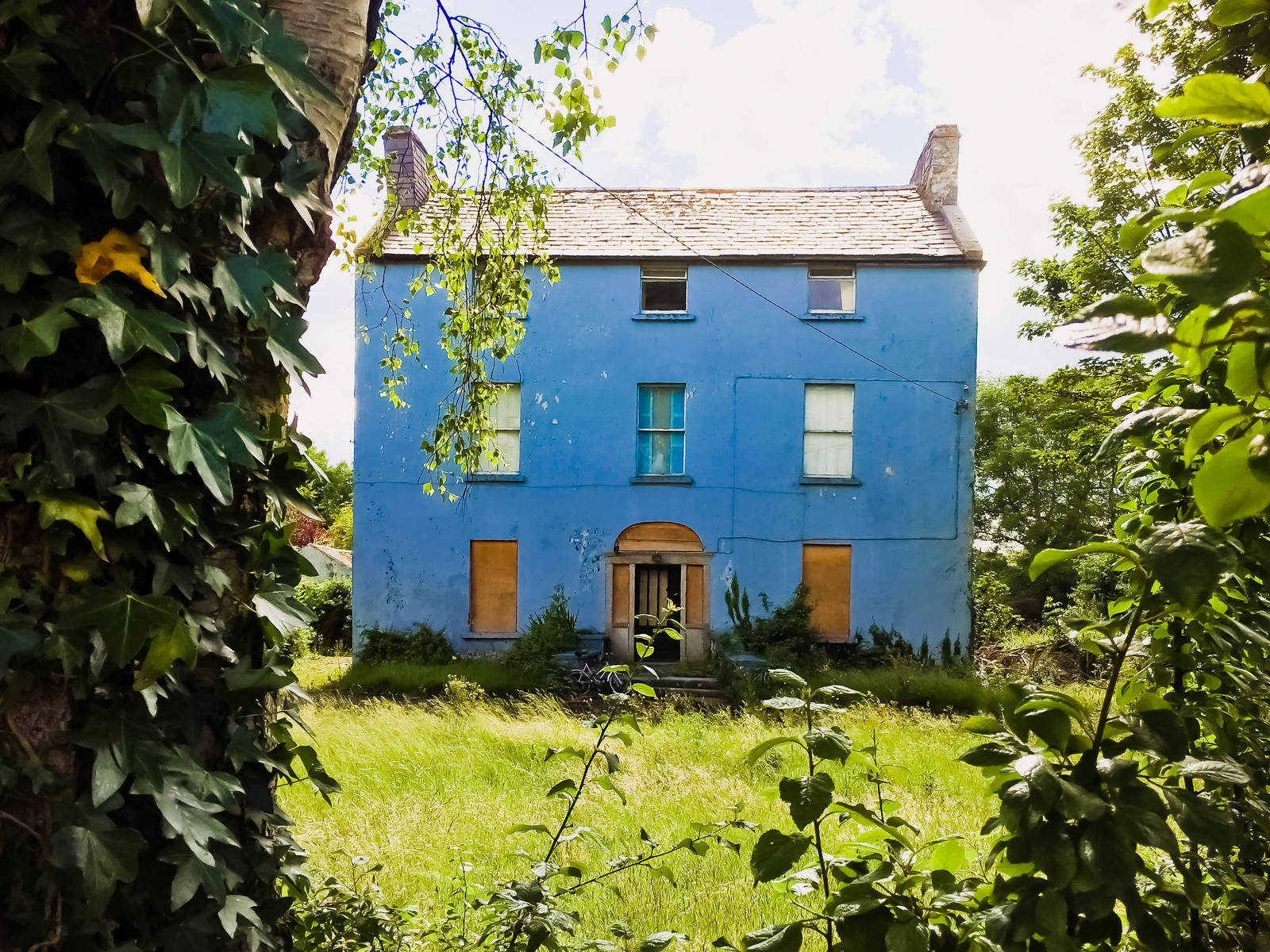 Ruined house in Sandyford Village, Dublin