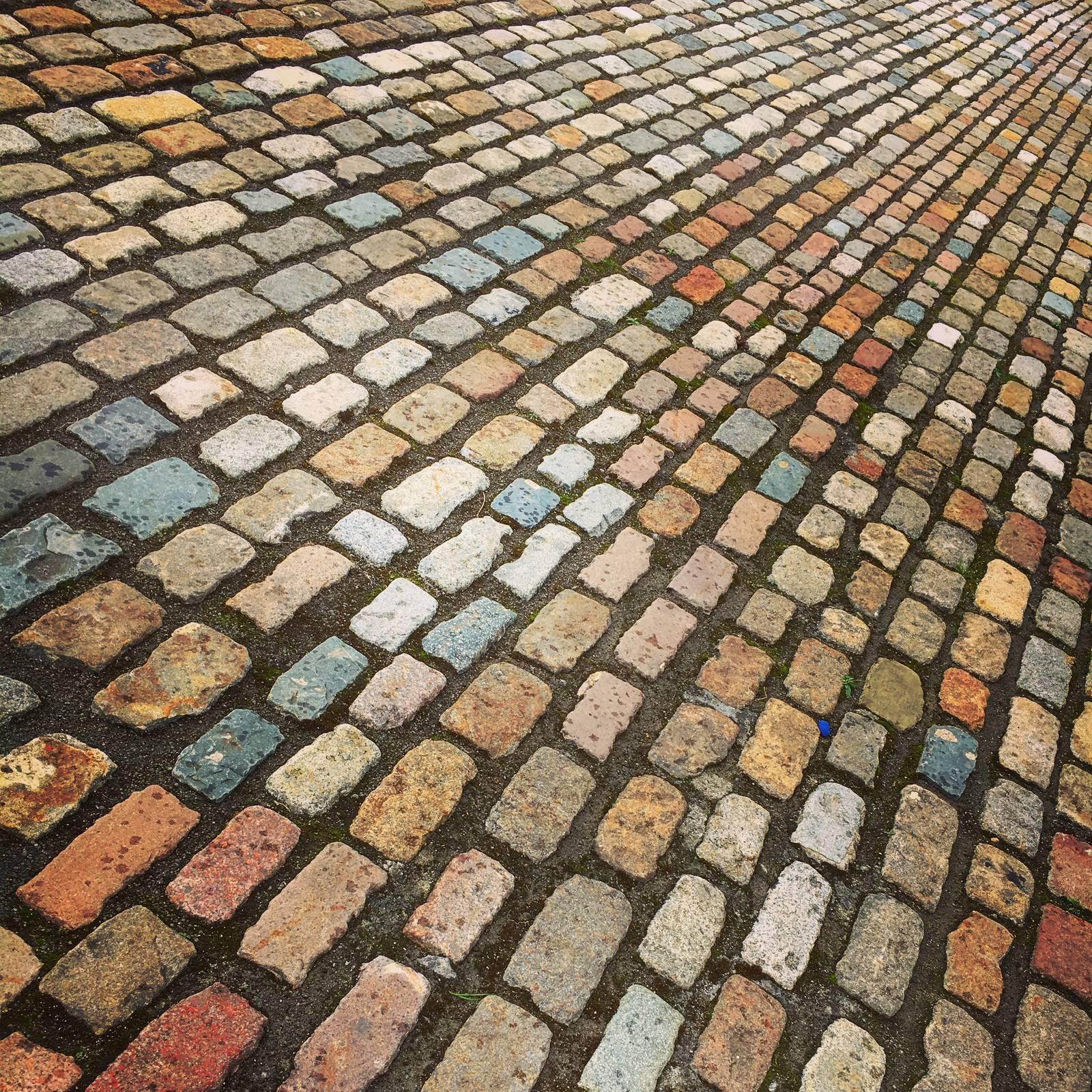 Cobblestones in the quadrangle at IMMA