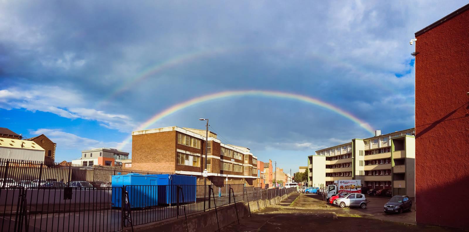 Double rainbow in Dublin 8