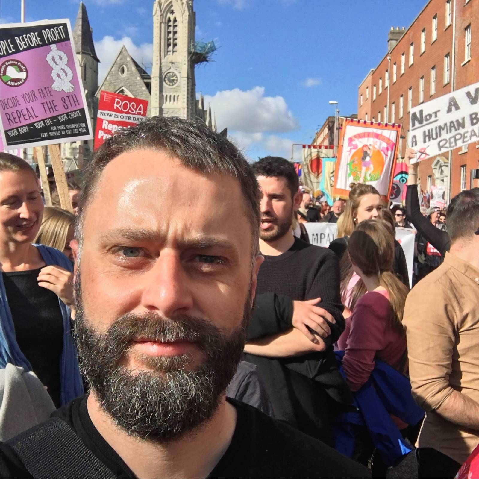 Myself at the march