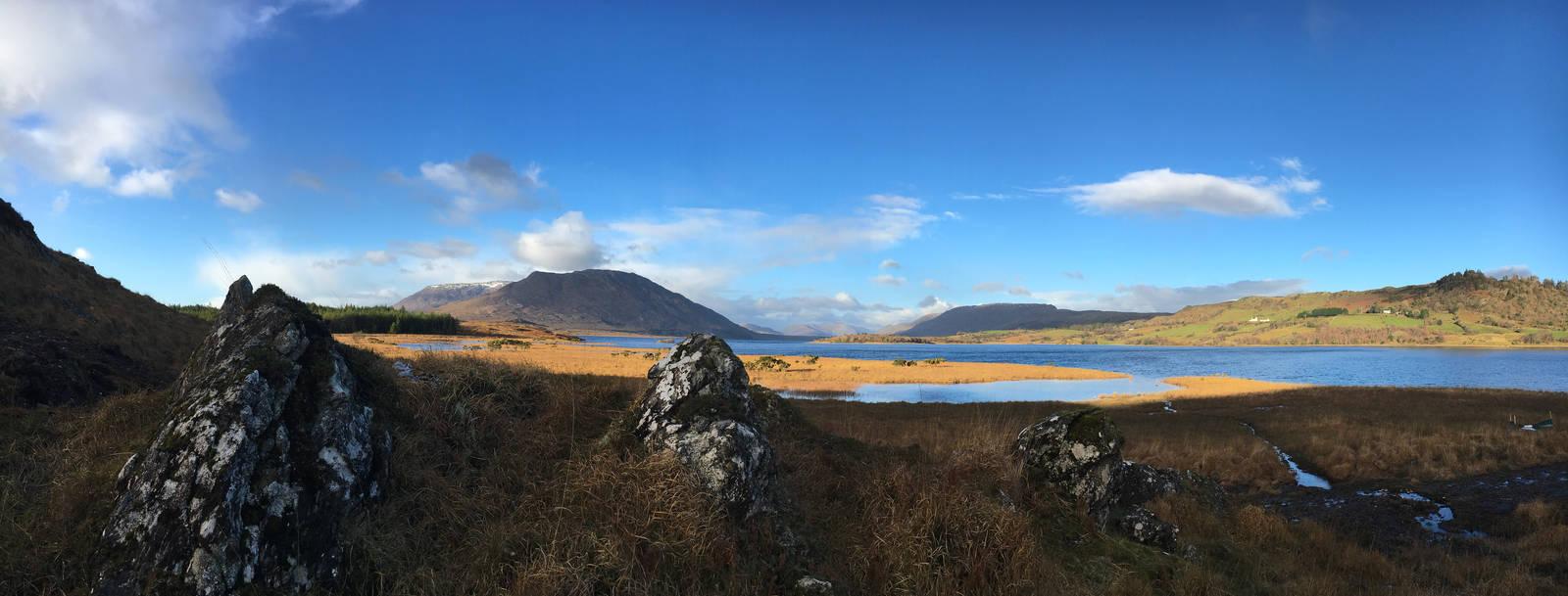 Upper Lough Corrib looking toward the Maam Valley