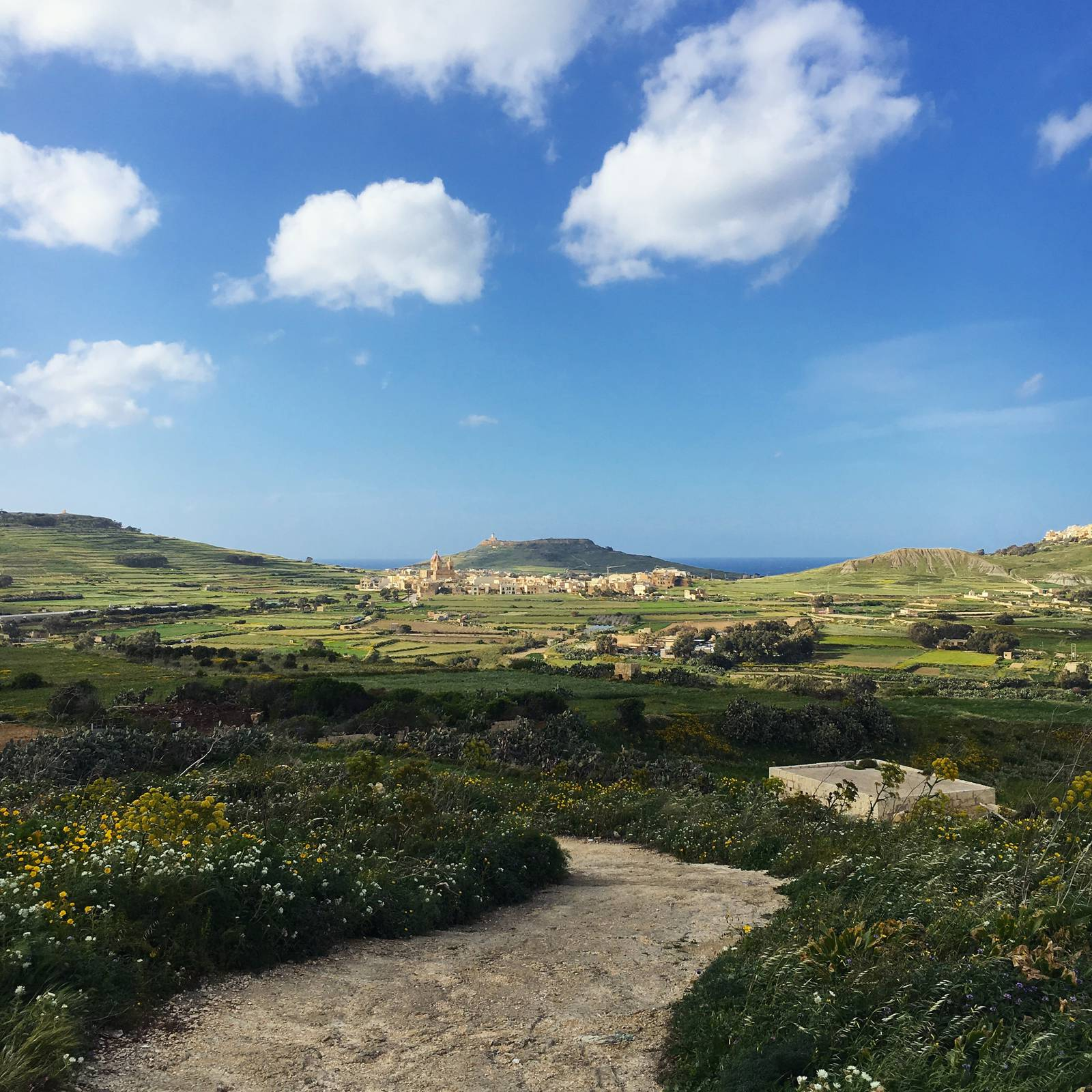 Maltese countryside outside of Victoria in Gozo