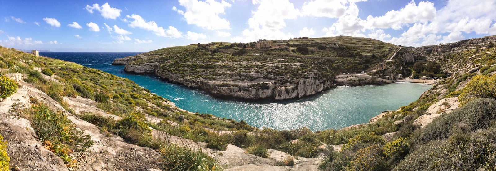 Panorama of the Mgarr xi-Xini inlet