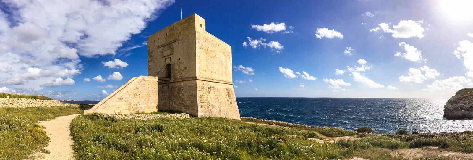 Panorama of the Mgarr ix-Xini tower