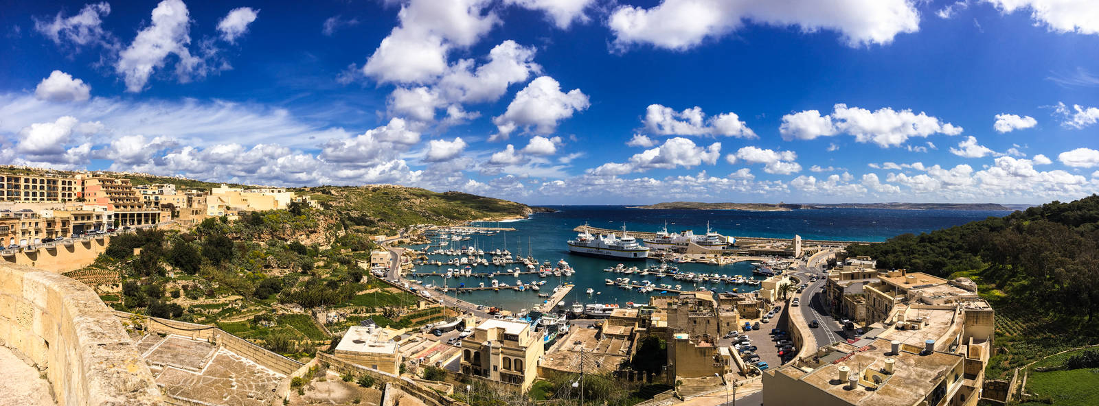 The town of Mgarr, Gozo, Malta