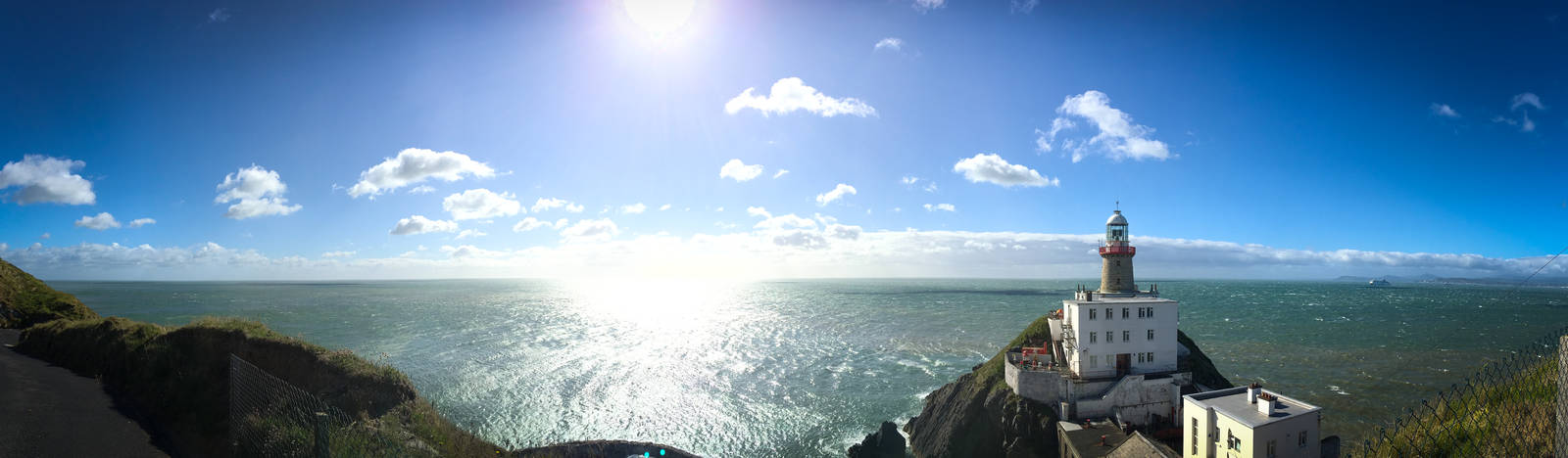 Panorama of Baily Lighthouse and the Irish Sea